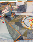 Airplane Crib Bedding by Patchmagic Quilts