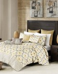 Ankara Yellow Coverlet by Ink & Ivy Bedding