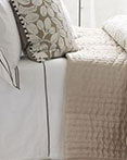 Chenevard Reversible Quilt Natural & Chalk by Designers Guild Bedding