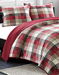 Maddox Red Coverlet by Ink & Ivy Bedding