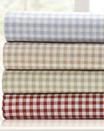 Gingham Print Sheet Set by Peking Handicraft
