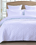 Fern Crystal White by Calla Angel Quilts