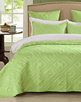 Fern Crystal Lime by Calla Angel Quilts