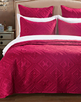 Fern Crystal Cherry Red by Calla Angel Quilts
