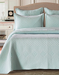 Saint Fountain Light Aqua by Calla Angel Quilts