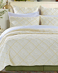Diamond Applique Ivory by Calla Angel Quilts