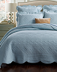 Rose Melody Light Blue by Calla Angel Quilts
