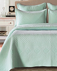 Sage Garden Light Aqua by Calla Angel Quilts