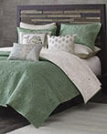 Kandula Seafoam Coverlet by Ink & Ivy Bedding