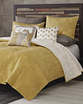 Kandula Yellow Coverlet by Ink & Ivy Bedding