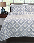 Equinox Blue Coverlet by Lamont Home