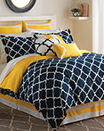Hampton Links Navy/Yellow by Jill Rosenwald