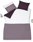 Graphic Stitch Aubergine by Ligano Bedding