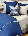 Churchill Linen Navy by Daniel Stuart Bedding by Daniel Stuart Bedding