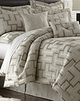 En Vogue Maze Platinum Grey by Austin Horn Luxury Bedding