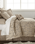 En Vogue Maze Quartz Beige by Austin Horn Luxury Bedding