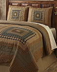 Earthtone Log Cabin by by Olivias Heartland Quilts
