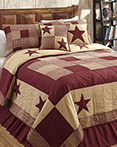 Jamestown Burgundy & Tan by Olivias Heartland Quilts