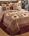 Colonial Burgundy & Tan by Olivias Heartland Quilts