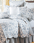 Brighton Blue Toile by C&F Quilts