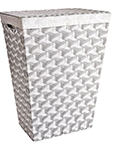 Rad Hamper Grey/White by Lamont Home