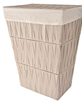 Chevron Hamper Linen by Lamont Home
