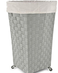 Linden Hamper Grey by Lamont Home