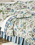 Charleston Chirp Larkspur by Waverly Bedding Collection