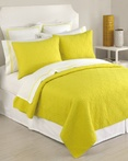 Santorini Coverlet Yellow by Trina Turk Bedding