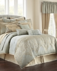 Aramis Aqua/Gold by Waterford Luxury Bedding
