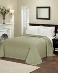 French Tile Quilted Sage Bedspread by American Traditions/Pem America
