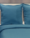 Single Diamond Teal by Ann Gish Art of Home Bedding