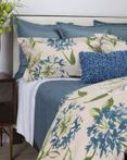 Floral Blue by Ann Gish Art of Home Bedding