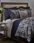 Scratch Navy/Silver by Ann Gish Art of Home Bedding