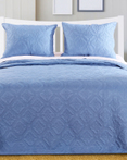 Central Park Mineral Blue Bedspread by Greenland Home Fashions