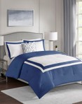 Carroll Navy by FiveTen 510 Designs Bedding