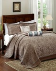 Aubrey Blue Bedspread by Madison Park
