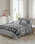 Neda Charcoal by FiveTen 510 Designs Bedding