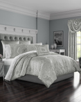Brooklyn Silver by Five Queens Court Bedding