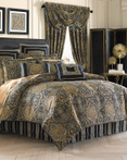 Palmer Teal by Five Queens Court Bedding