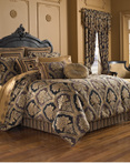 Reilly Black by Five Queens Court Bedding