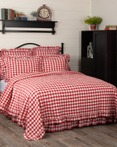 Annie Buffalo Check Red by VHC Brands Quilts