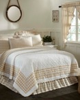 Annie Buffalo Check Tan by VHC Brands Quilts
