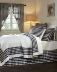 Annie Buffalo Check Black by VHC Brands Quilts