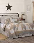 Dakota Star Farmhouse Blue by VHC Brands Quilts