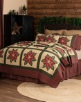 National Quilt Museum Poinsettia Patch by VHC Brands Quilts
