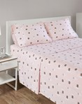 Pink Llamas Cozy Soft Flannel Sheet Set by Intelligent Design