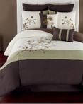 Catie Green/Espresso by Riverbrook Home Bedding