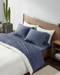 Cotton Jersey Knit All Season Heathered Sheet Set by Ink & Ivy Bedding