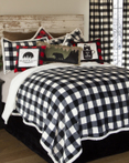 Lumberjack Black & White by Carstens Lodge Bedding